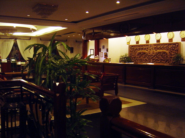 Recepción del hotel.