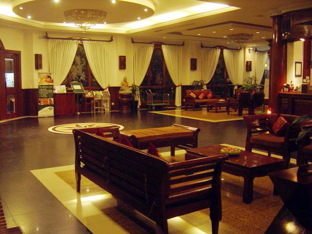 Un salón del hotel.