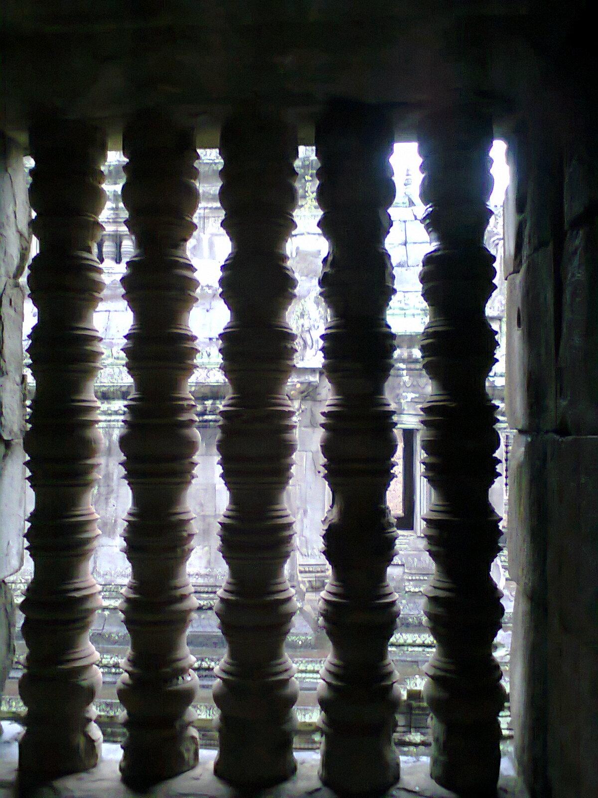 Foto desde el interior de Angkor wat