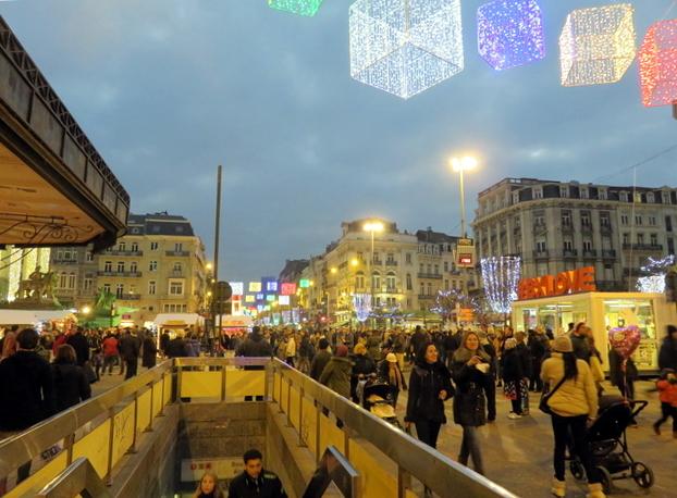 la plaza de La Bolsa en Bruselas