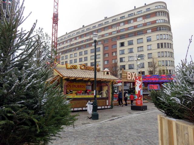 Churros en la plaza de Santa Catalina. Bruselas.