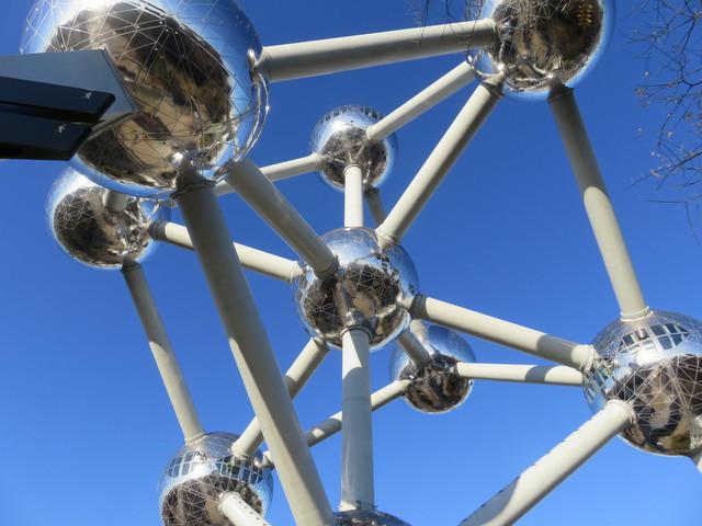 Atomium, visto desde abajo.